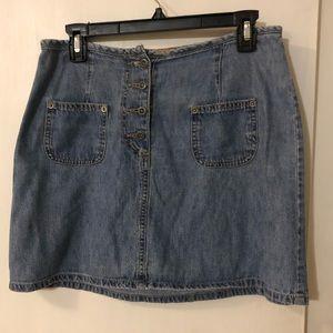 Blue Asphalt: Summer Shade denim mini skirt